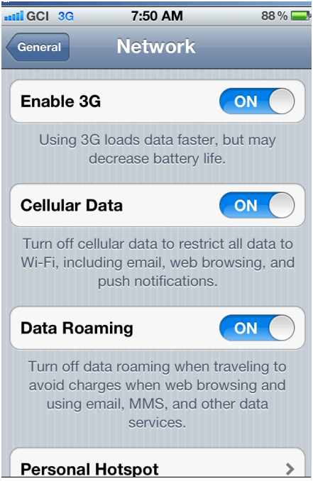 cell data