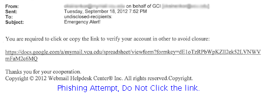 Phishing Attempt, Just Delete
