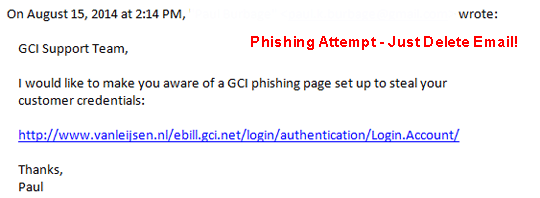 Phishing Just Delete Email