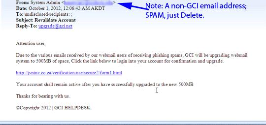 Spam hookup emails