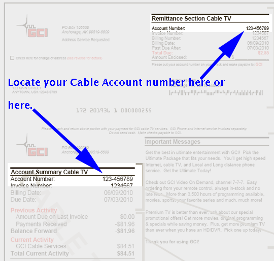 Cable Paper Invoice