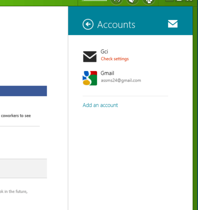 Accounts on computer
