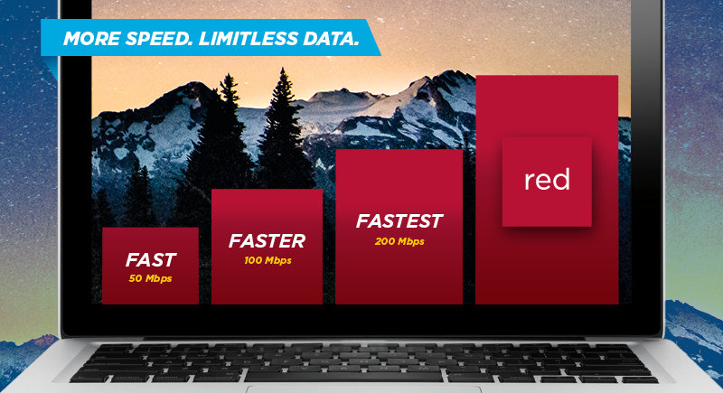 No Worries Plans -- now even faster. More speed. Limitless data.