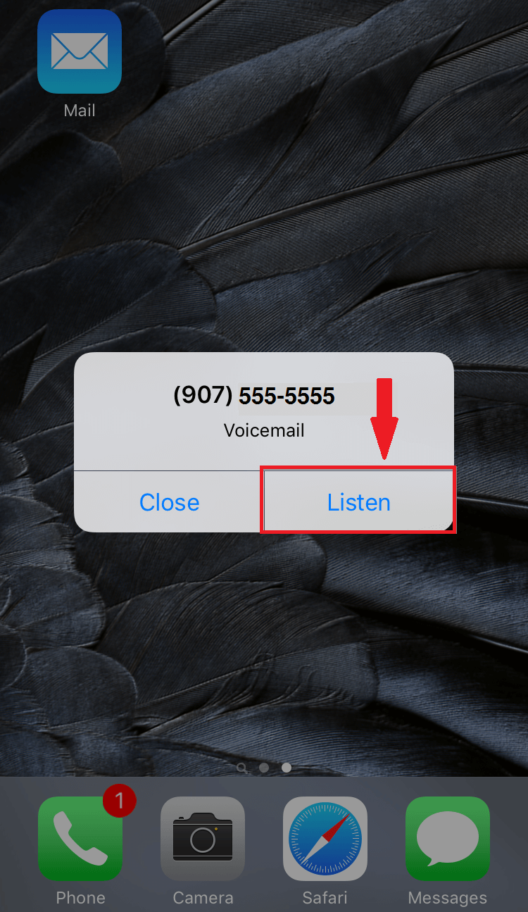 Visual Voicemail – iPhone   GCI Support