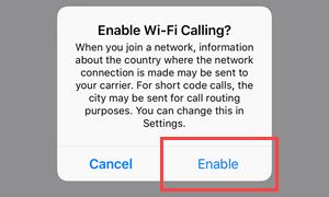 WiFi Calling | GCI Support