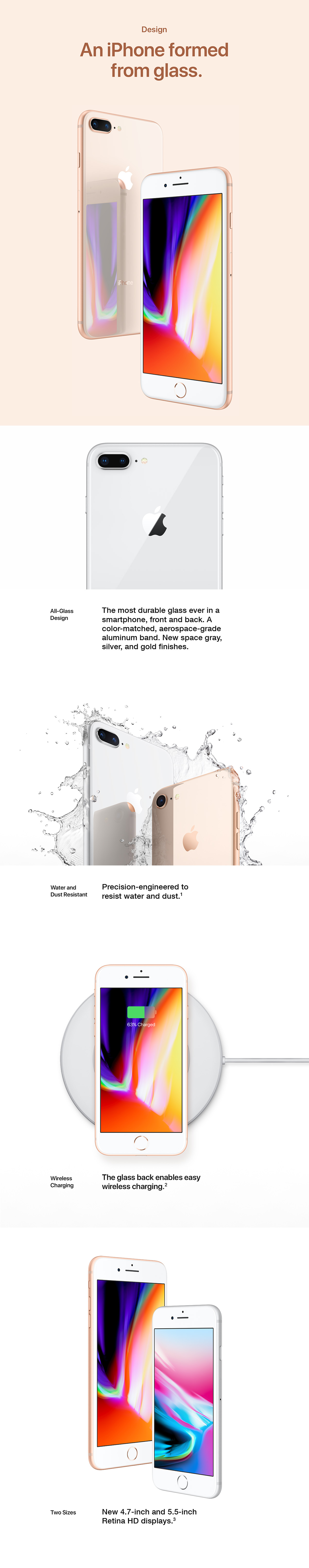 An iPhone formed from Glass